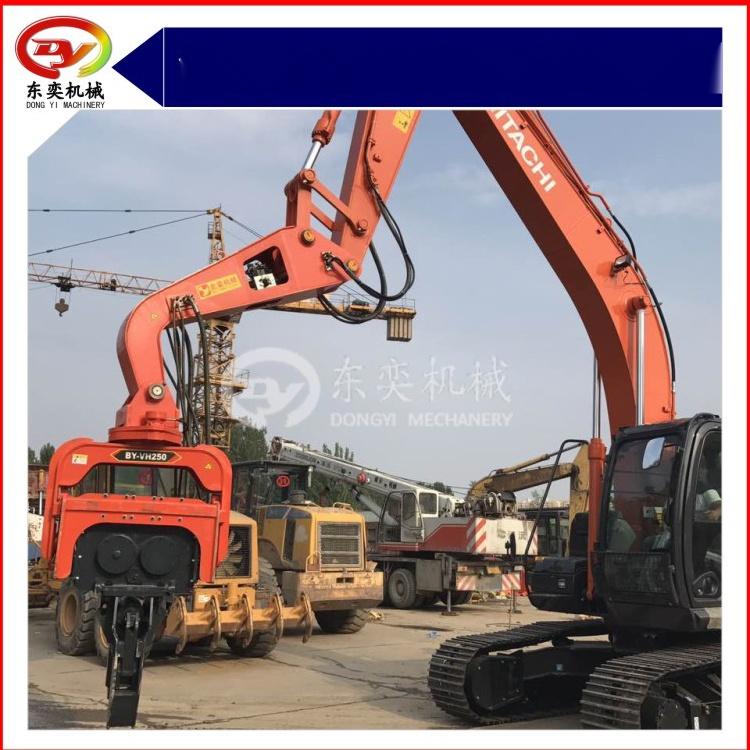 日立挖掘机改装打桩机 打拔桩机 打拔钢板桩机768988365