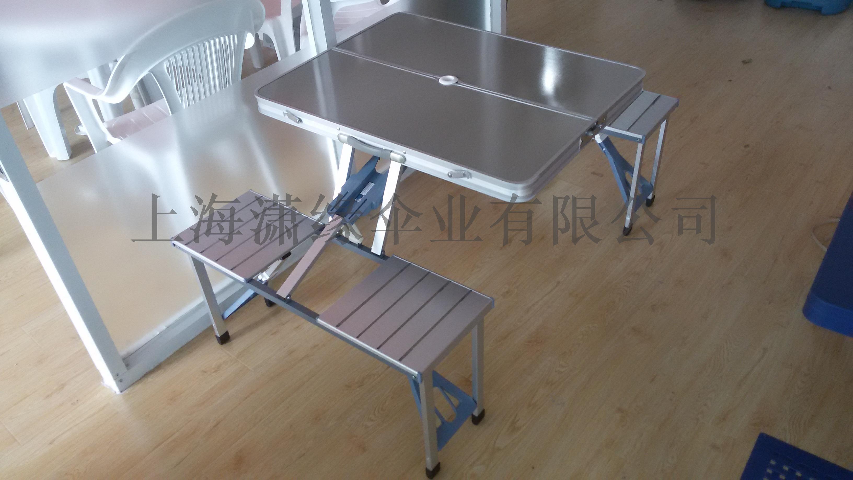 铝合金连体折叠桌便携式休闲野餐摆摊桌可折叠桌椅118434072
