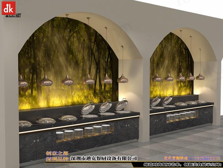 江西自助餐厅石英石自助餐台 整体餐厅餐台设计 广东专业设计酒店自助餐台 自助餐厅设计 酒店自助餐台图片布菲台 (5).jpg