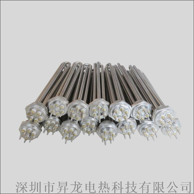 銅法蘭綠不鏽鋼加熱管蒸汽機電子鍋爐電熱管發熱管817376762