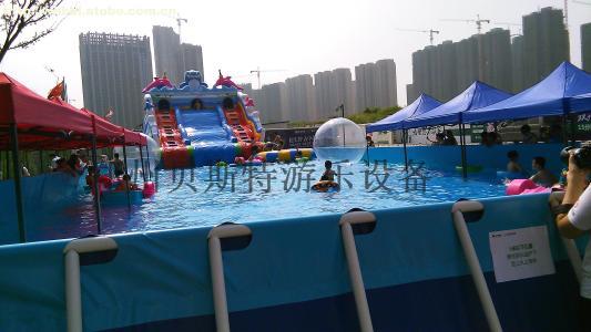 黑龍江佳木斯支架游泳池廠家直銷移動水上樂園65175785