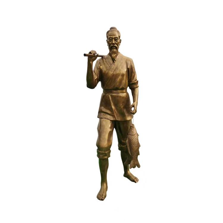 玻璃钢农耕雕塑 户外景观仿铜人物雕塑146526525
