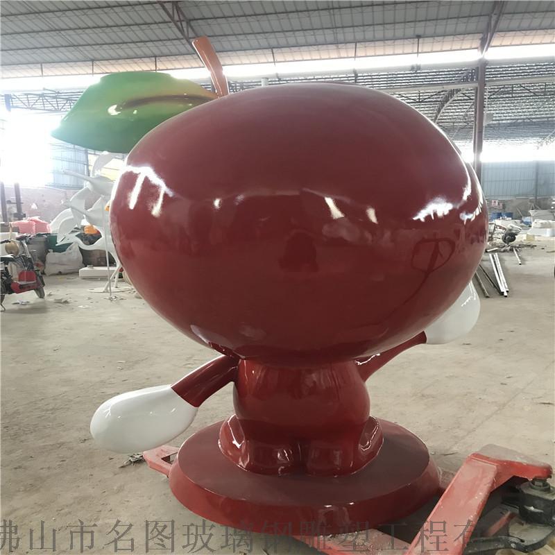 供应福建果园卡通李子雕塑、玻璃钢卡通水果雕塑模型116924815