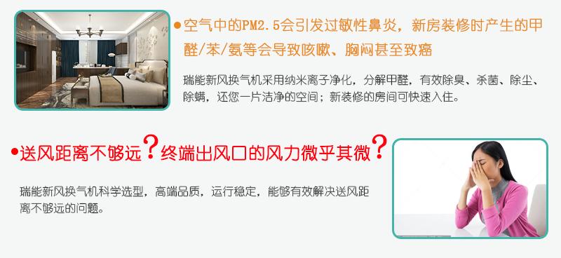 瑞能网咖火锅店商用新风系统 新风换气机 全热交换器106321452