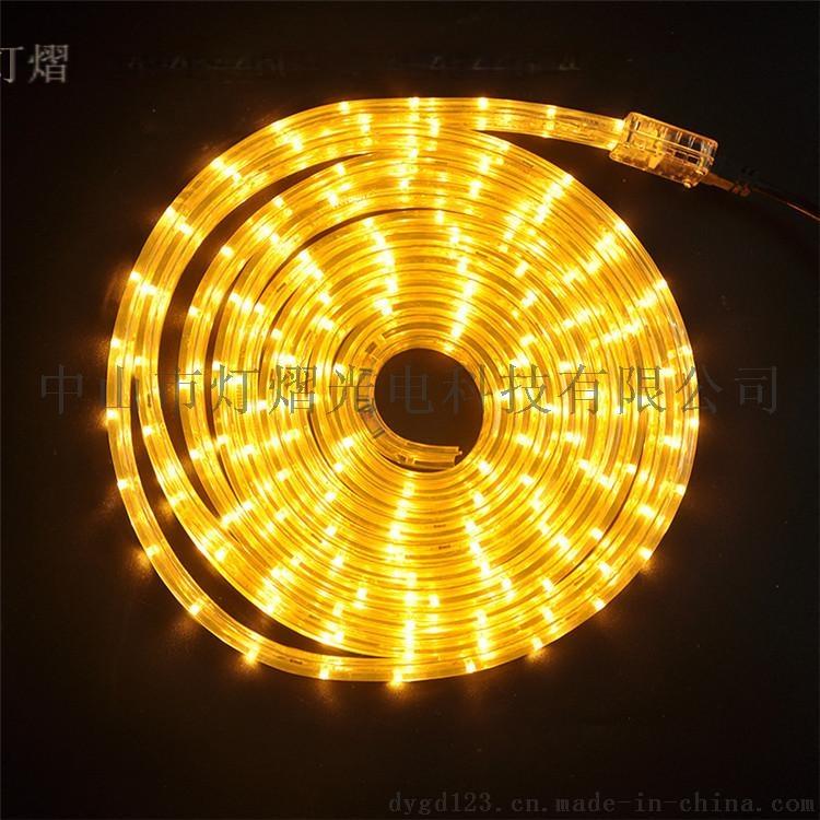 廠家直銷LED燈帶 戶外防水圓二線 彩虹管60542325