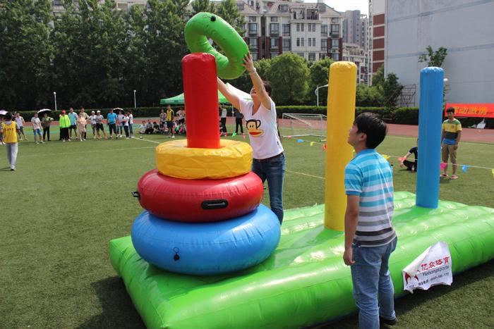 江西秋季趣味运动会气模趣味充气闯关障碍814087902