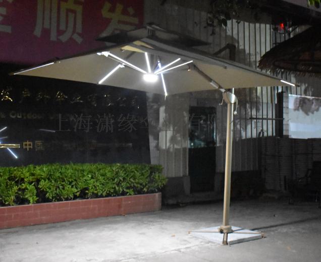 LED户外伞、太阳能发电led庭院伞、LED阳伞129517632