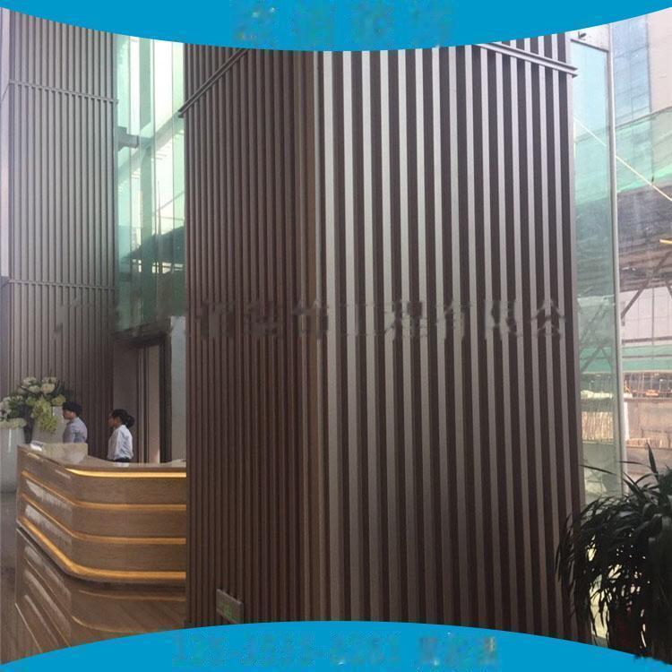 广告门头装饰凹凸型铝板定制  仿木纹长城铝板101546885