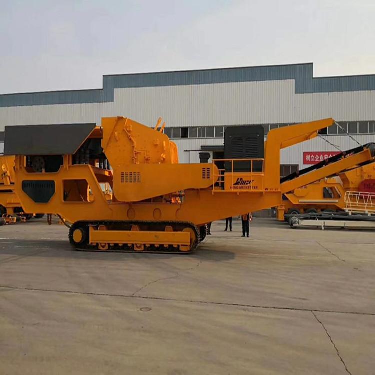 移动碎石生产线 济南石料移动式破碎机厂家792247562