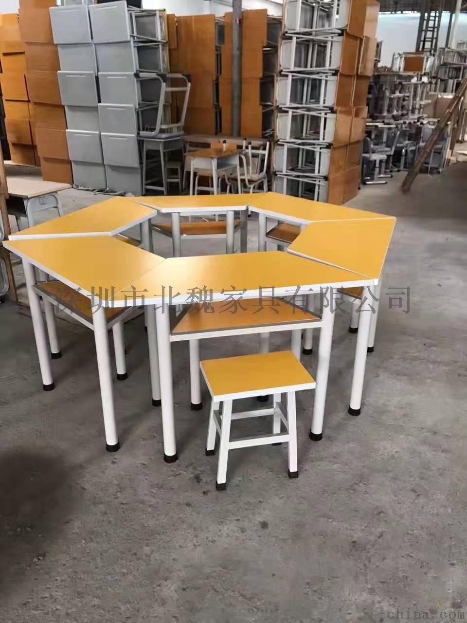 高中課桌椅*鋼木課桌椅廠家*學生實木單人課桌椅96210805