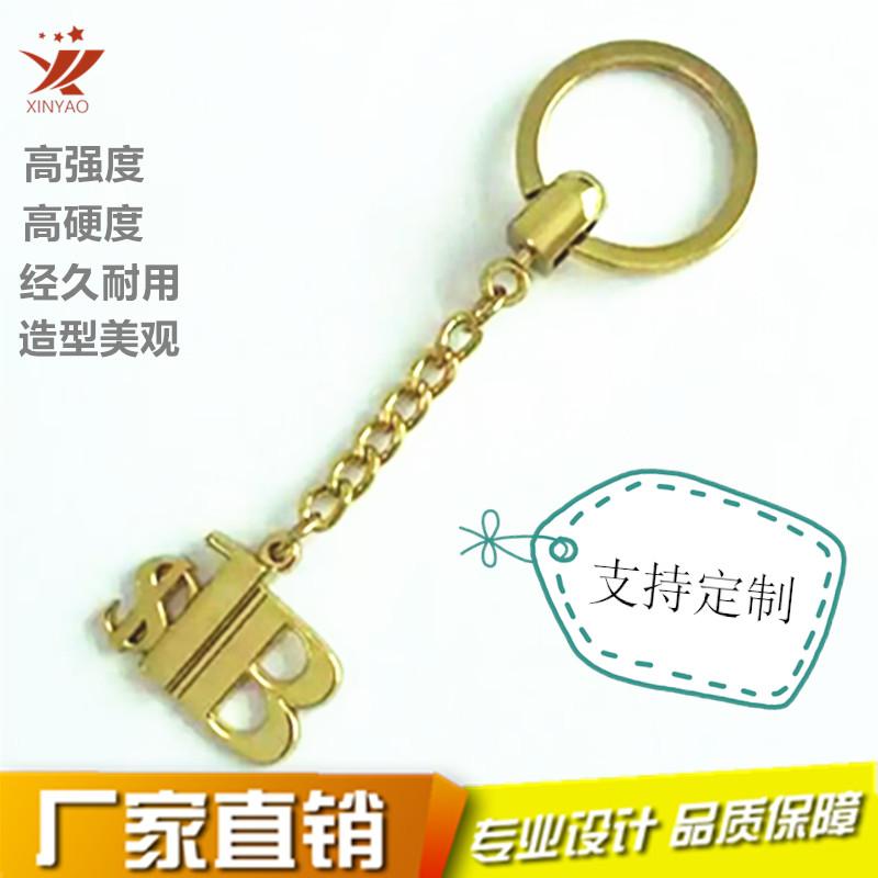 定制金属字母钥匙扣 镀金钥匙扣挂件定做钥匙链钥匙环797764895