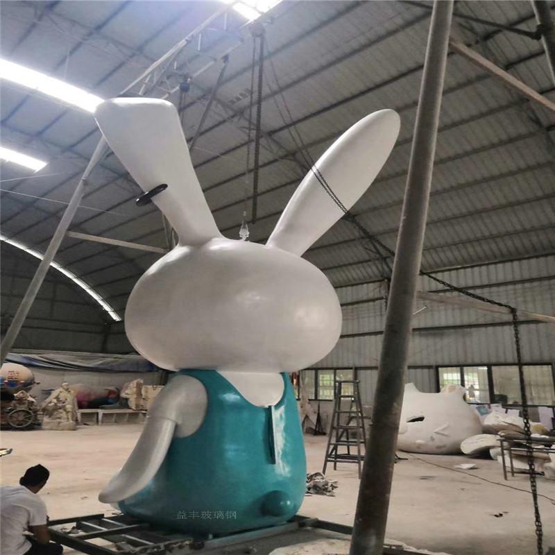 玻璃钢白兔雕塑 楼盘小区景观卡通雕塑造型952997515