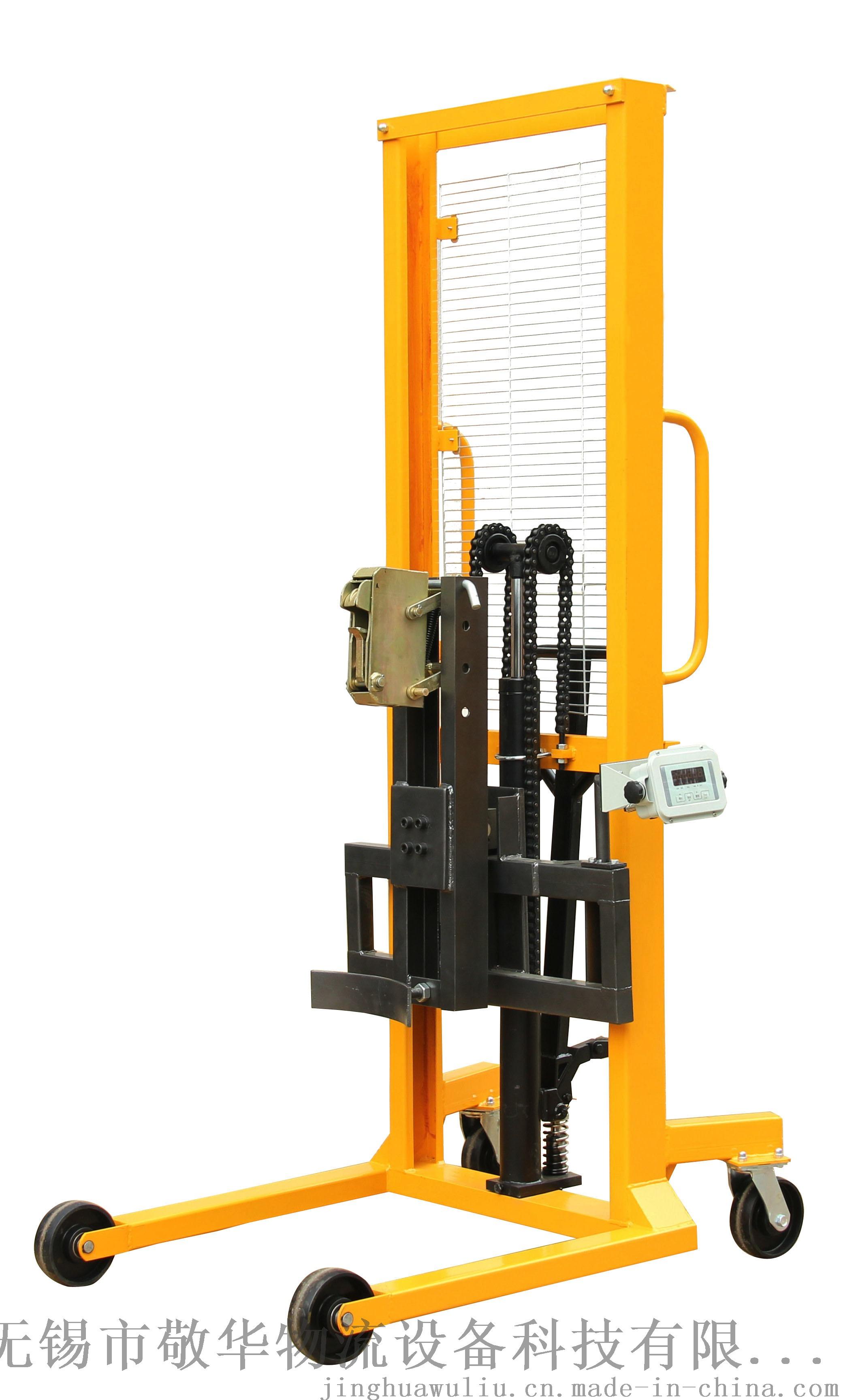 敬华物流设备DT400A-1带电子秤手动油桶堆高车780408835