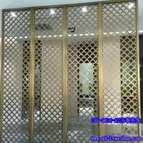 室内隔断铝网板 金属铝网格板厂家 拉网板隔断