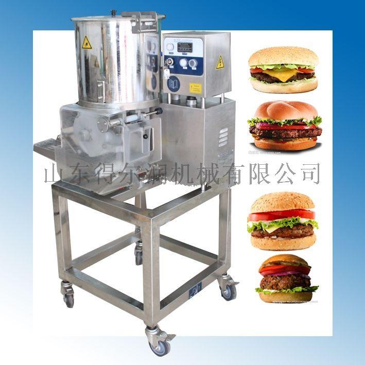 小型土豆饼成型机 成型裹浆油炸线 心形肉饼成型机86525352