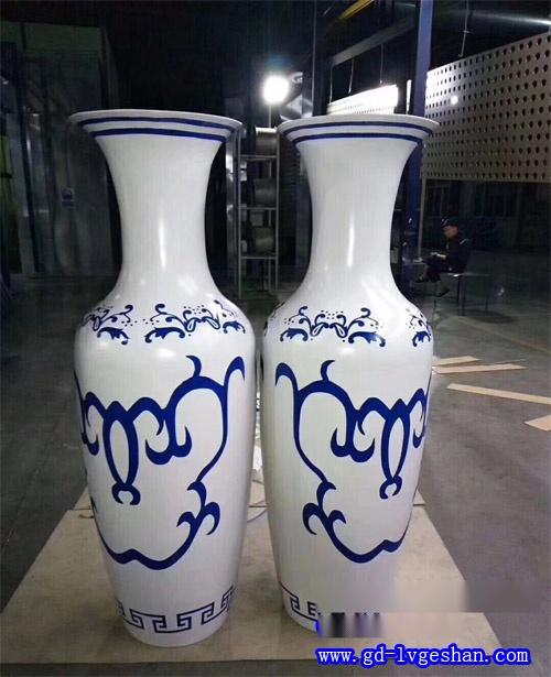 弧形双曲铝单板 青花瓷花瓶造型双曲铝板 双曲铝单板厂家