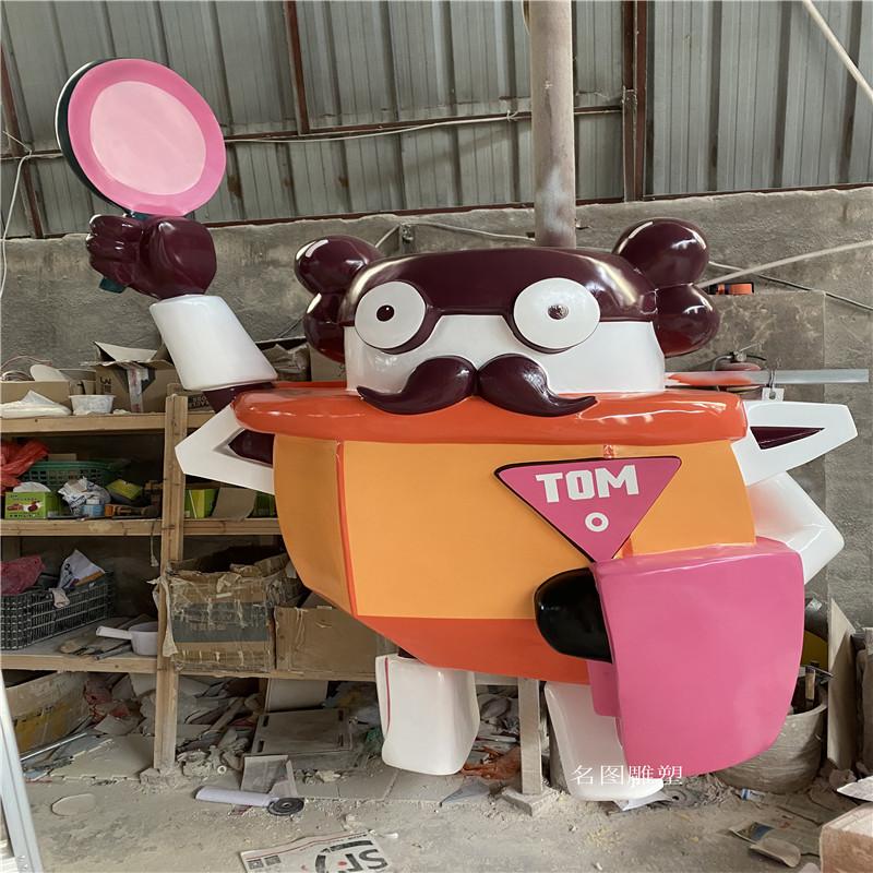 广州机器人主题餐厅雕塑 玻璃钢卡通雕塑造型904957305