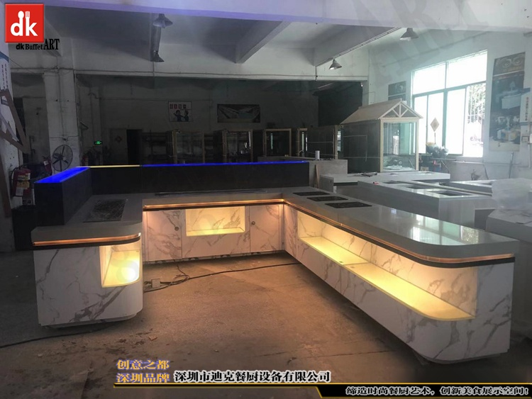 杭州省人民医院体检中心自助餐台 单位用餐取餐台设计制作7.jpg