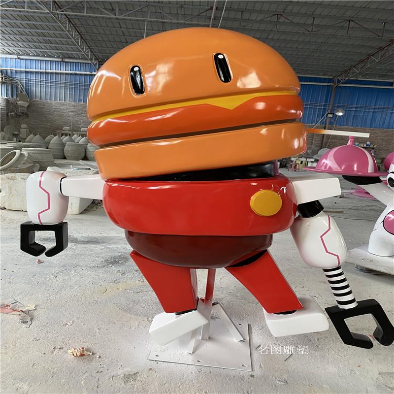 广州机器人主题餐厅雕塑 玻璃钢卡通雕塑造型904957285