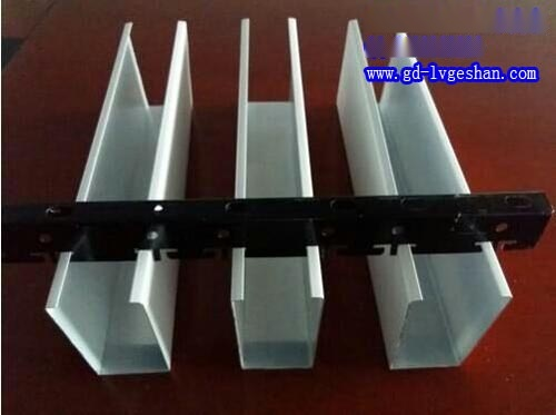 铝合金U型槽 铝方通吊顶厂家 U型铝方通天花