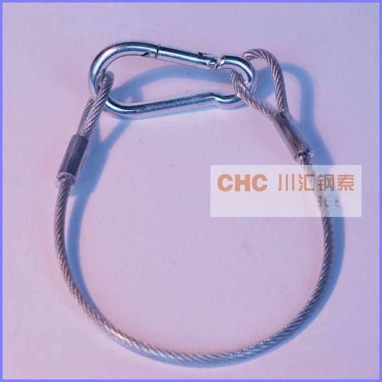 供应压制涂塑钢丝绳索具,压制耐磨钢丝绳吊具39885022