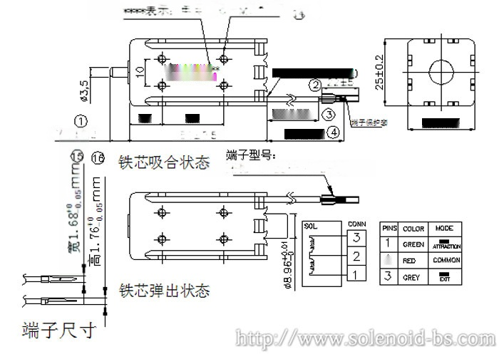 广东横机电磁铁 BS-0951N-0160015585