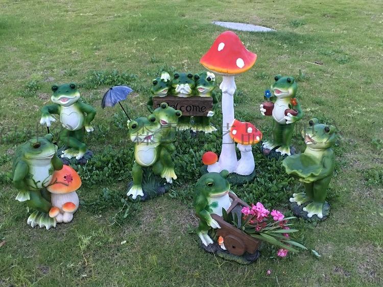 卡通仿真青蛙摆件 户外玻璃钢动物雕塑园林景观工艺品85563395