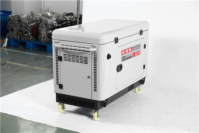 静音5千瓦小型无刷柴油发电机运行109920372