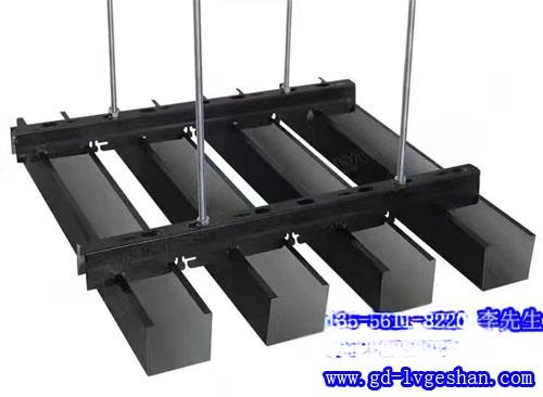 U型铝通天花安装 条形铝格栅吊顶 U型铝方通厂家.jpg