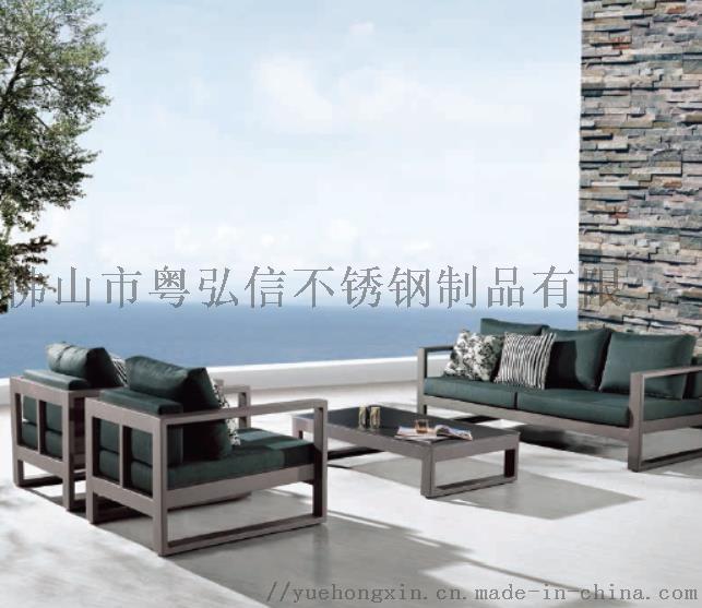 休閒不鏽鋼沙發茶几組合 商場不鏽鋼沙發121596435