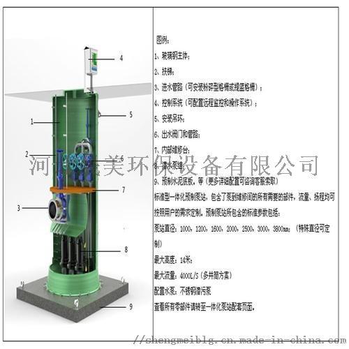 销售地埋式玻璃钢污水提升装置 污水提升泵站厂家859762322