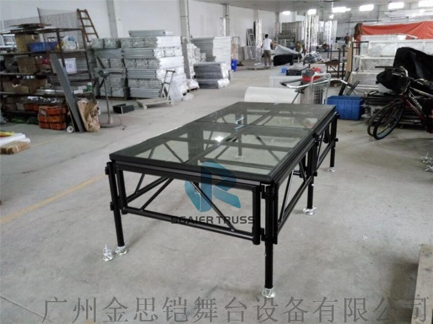 黑色玻璃拼接舞台,升降舞台,拼装舞台,组合型舞台779777902