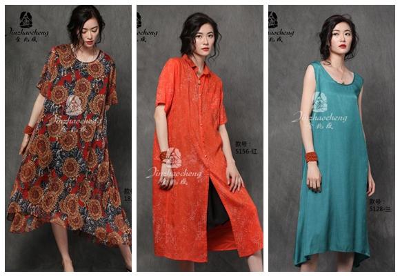 中老年金兆成女装品牌加盟折扣店  剪标夏季连衣裙92104635