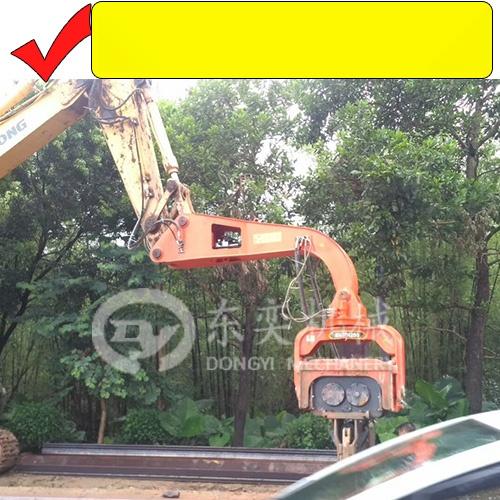 挖掘機打鋼板樁機 打拔拉森鋼板樁 打樁錘廠765791275