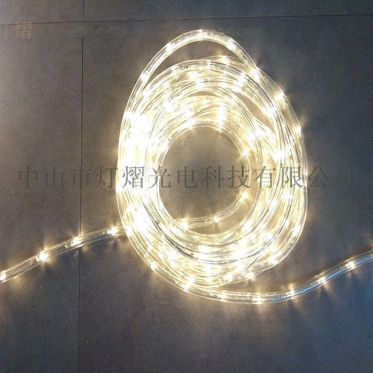 廠家直銷LED燈帶 戶外防水圓二線 彩虹管60542275