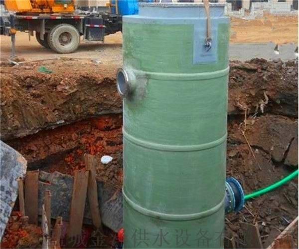 直徑3米高度6米玻璃鋼一體化污水提升泵站112791545