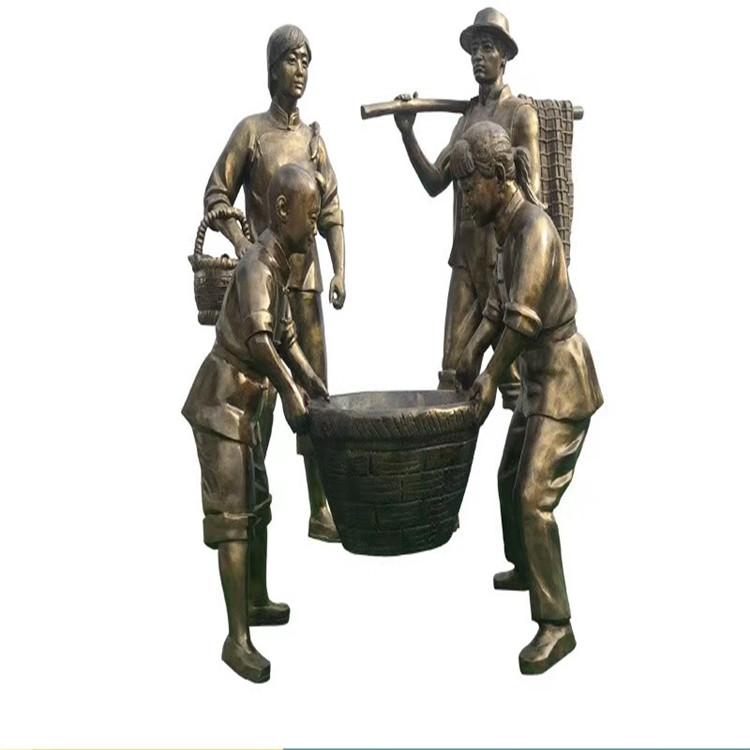 玻璃钢农耕雕塑 户外景观仿铜人物雕塑146526535
