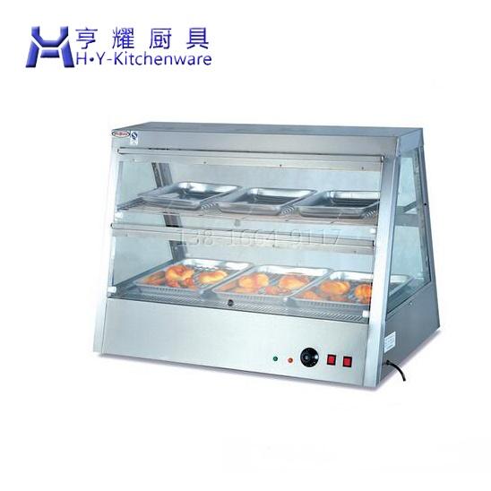 炸類食物保溫保溼機器 多功能食物保溫櫃報價 雙層食物保溫展示櫃112251335