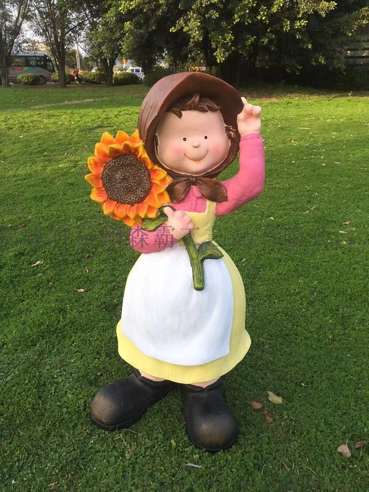 卡通人物丰收节小孩 户外园林树脂雕塑批发 泉州85539855