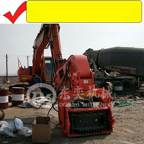 挖掘机打钢板桩机 打拔拉森钢板桩 打桩锤厂765791295