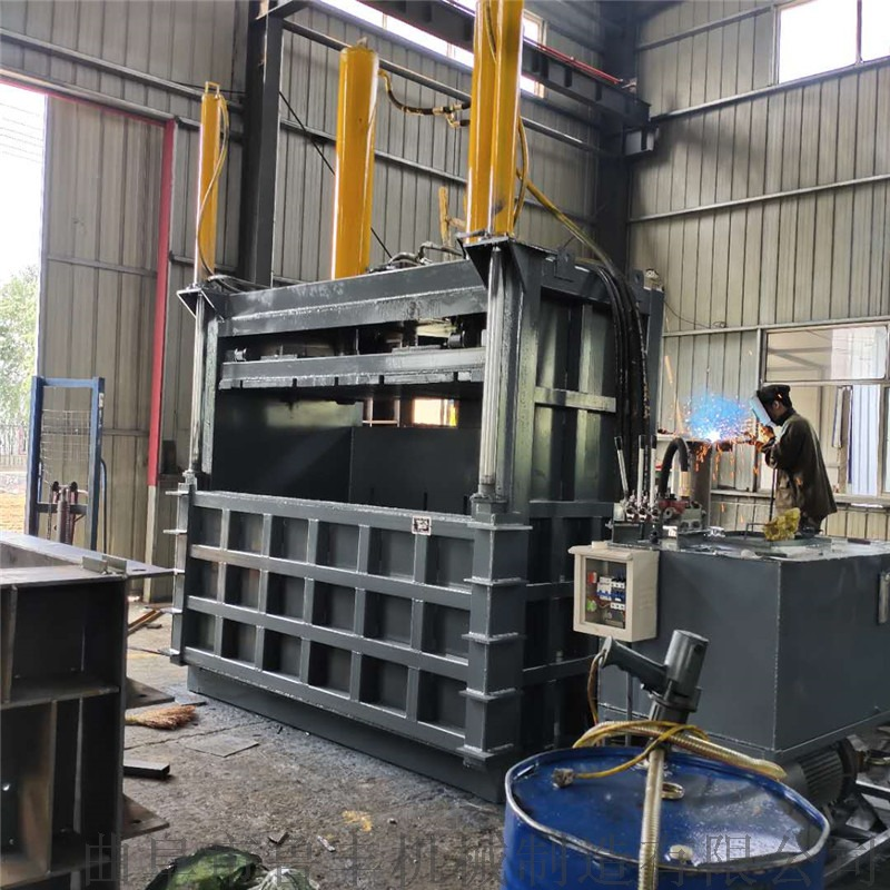编织袋打包机 立式废纸箱60吨打包机115997752