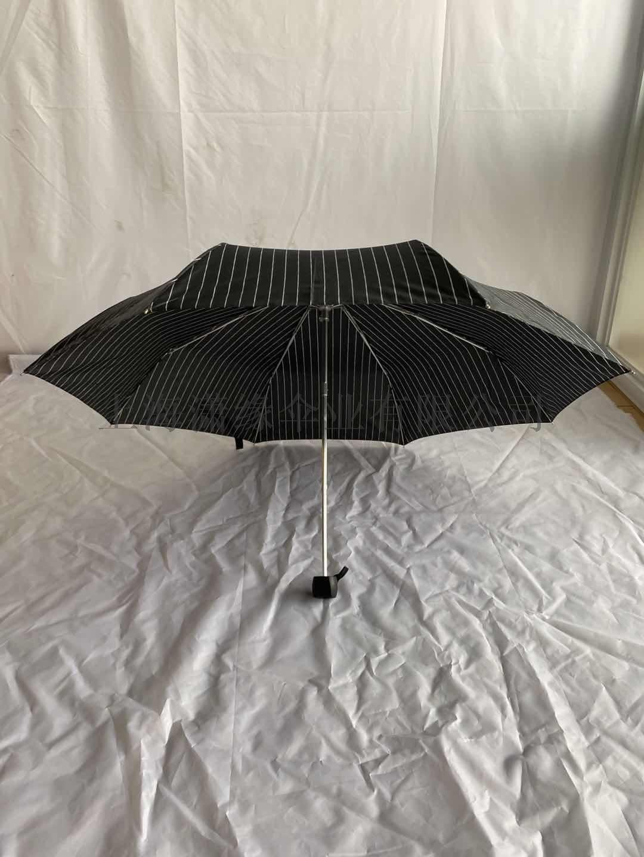 简约商务男士折叠伞潮流条纹碰击布三折晴雨伞批发定制844706452