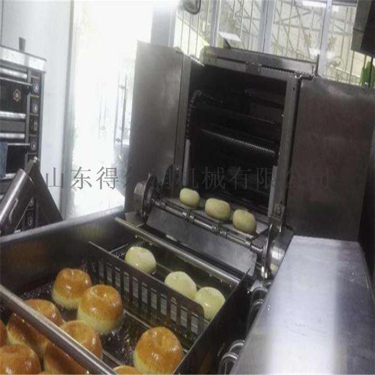 諸城 甜甜圈油炸機 甜甜圈油炸設備 翻轉油炸生產線61375132