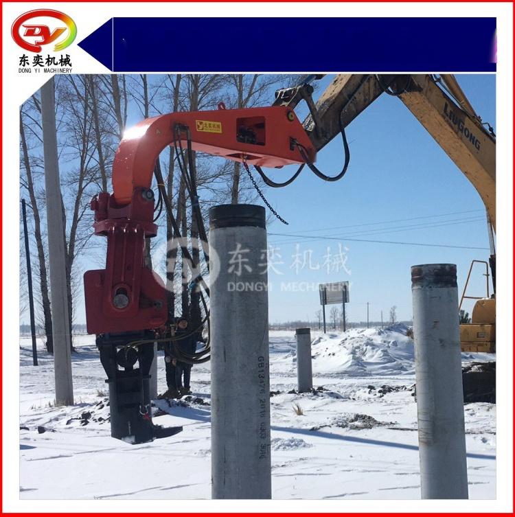 日立挖掘机改装打桩机 打拔桩机 打拔钢板桩机59800305