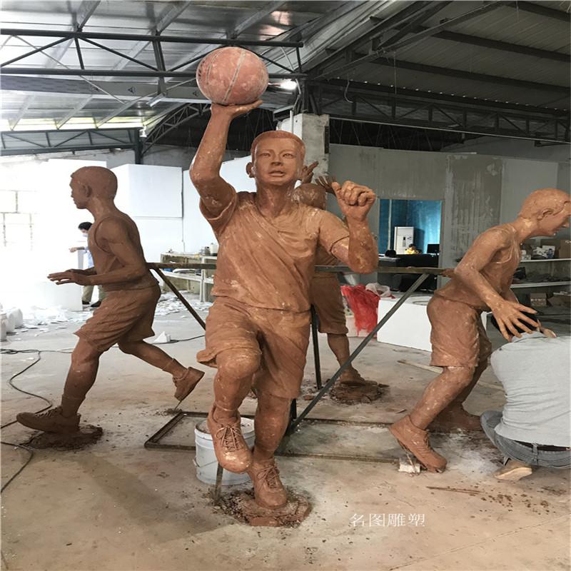 玻璃钢打篮球人物雕塑校园广场仿铜人物雕塑133446795