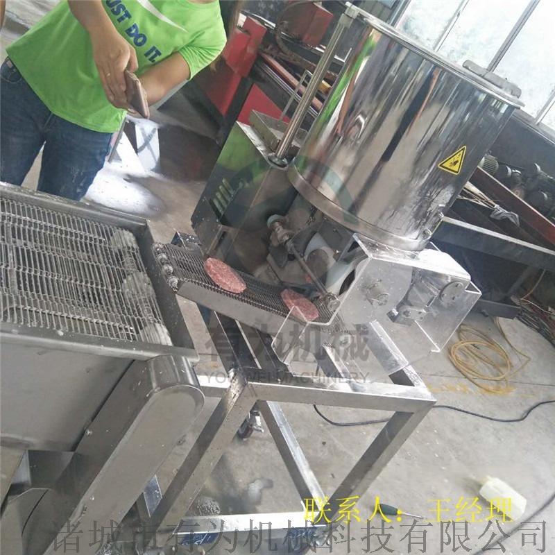 双模小型肉饼成型机生产线,小型肉饼成型机760937732