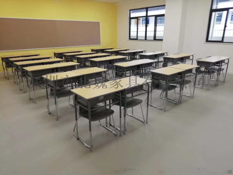 高中课桌椅*钢木课桌椅厂家*学生实木单人课桌椅96210905