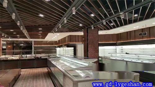 沃尔玛铝天花 沃尔玛商场吊顶效果图 铝方通天花