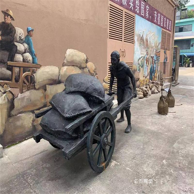 玻璃钢人物造型 街头卖粮食人物雕塑 民俗小品雕塑906402115