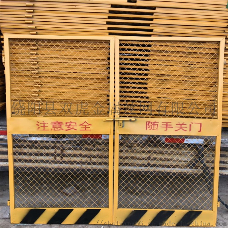 电梯井安全门 施工电梯门 建筑电梯门69189102